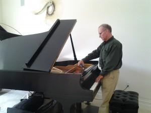 Tuning a Steinway Model B Grand Piano